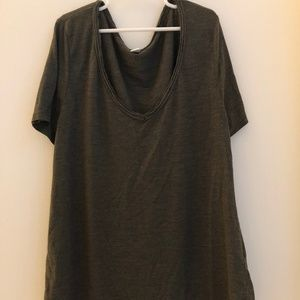 army green nordstrom v-neck